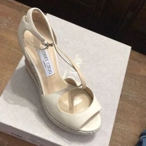 32e2685116 Jimmy Choo Shoes - New! Jimmy Choo Dakota wedge size 8. Off white